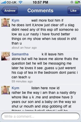 facebookdrama 5 - Kym