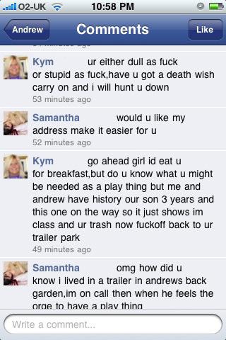 facebookdrama 7 - Kym